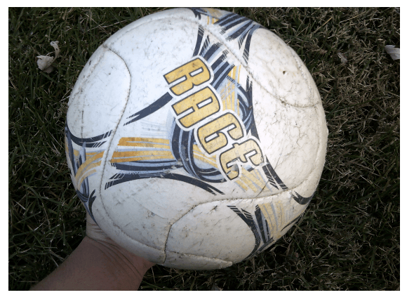 Figure 2 - Photograph of a soccer ball, representing feelings of incompetence in sport